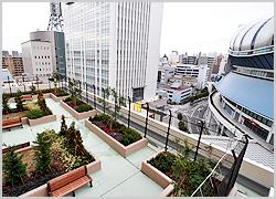 京セラドーム大阪がすぐ隣に見えます